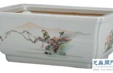 清雍正五彩人物纹花盆和清顺治 青花龙纹香炉鉴赏