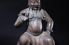 清末铜胎关公坐像