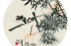 国画大师潘天寿诗意扇面小品欣赏