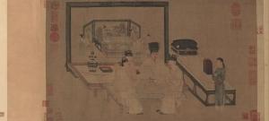 传世名画《重屏会棋图》又是宋人临摹