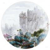 釉上彩山水瓷画与传统山水国瓷画