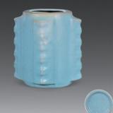 青釉琮式瓶鉴定及成交价格