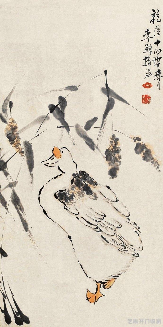 「熊掌价格」清代画家李鳝花鸟画欣赏