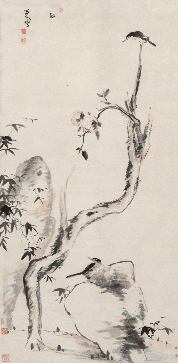 「爱莲说图片」朱耷经典绘画作品欣赏