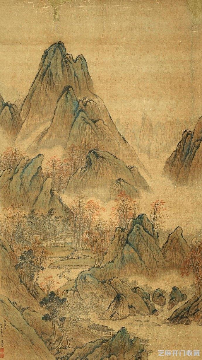 [古玩交易网]唐岱山水画作欣赏及其艺术价值