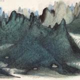 朱道平山水画 线与点的交响乐