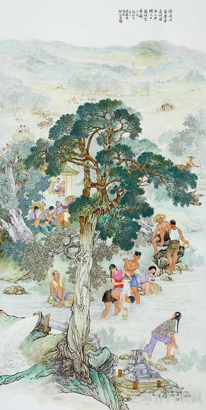 张松茂瓷画作品值钱吗