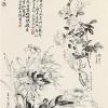 马孟容的《月夜八哥海棠图》