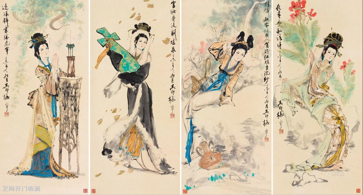 国画大师颜梅华作品欣赏