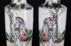 民国粉彩三娘教子纹瓷器收藏价值