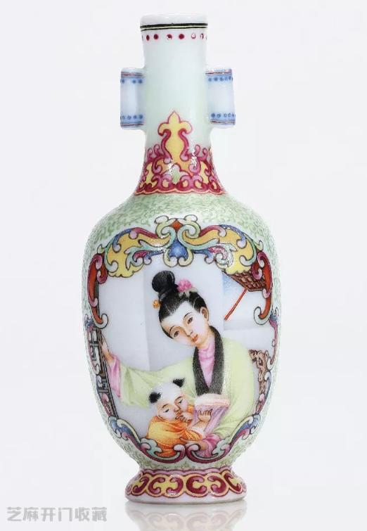 珐琅彩瓷仕女图案花瓶的价值
