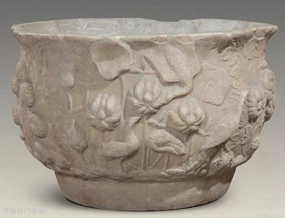 汉白玉花卉纹碗有收藏价值吗
