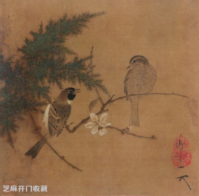 从宋赵佶《腊梅双禽图》看其花鸟画的风格特征