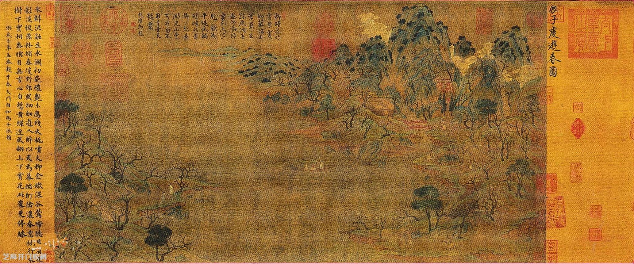 《游春图》——中国现存最早的文人山水画作