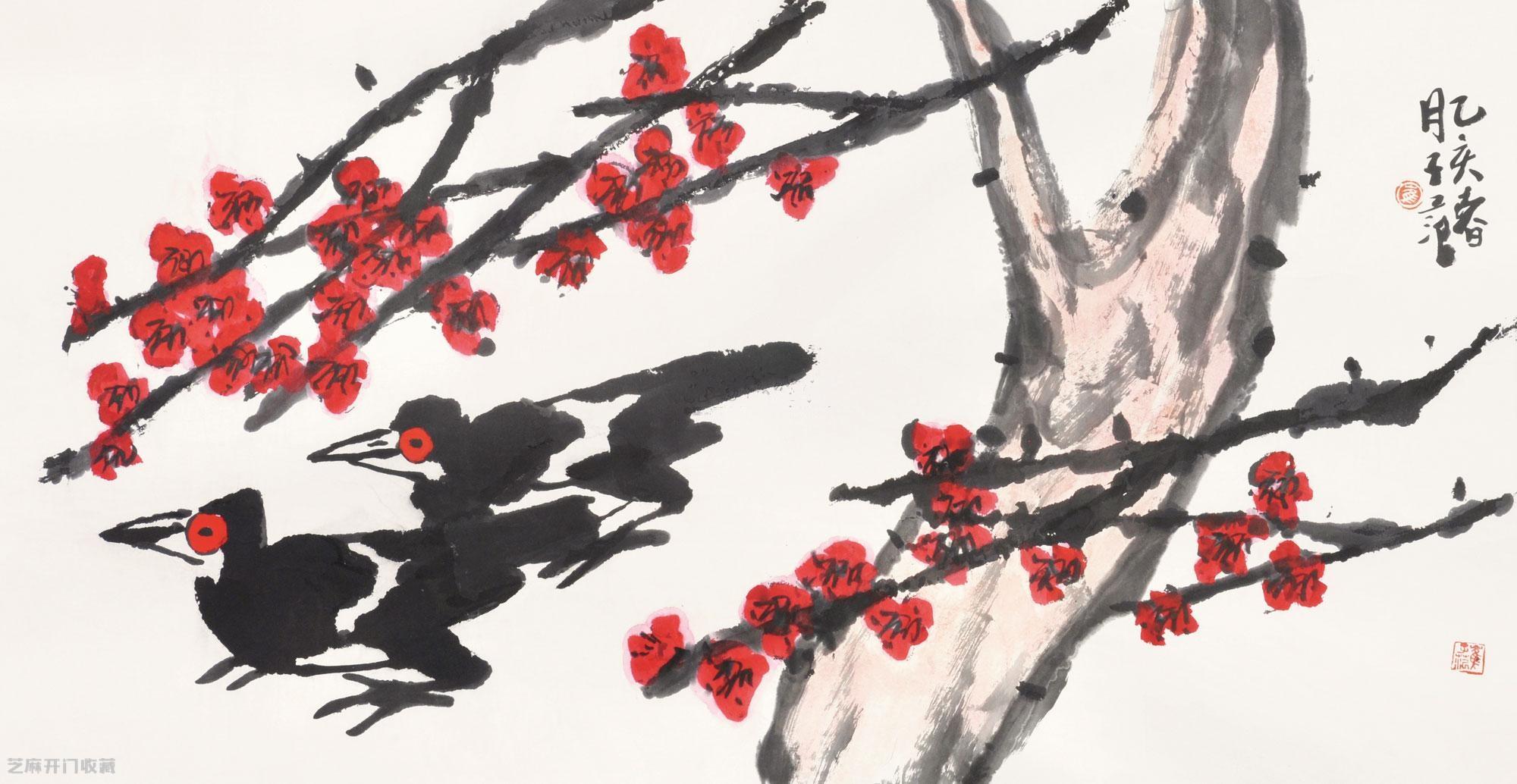 崔子范的大写意花鸟画收藏投资价值高吗