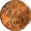 民国开国纪念币缠枝花双旗铜元能卖多少钱一个
