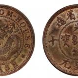 湖南省造光绪元宝黄铜元当十图片及价格