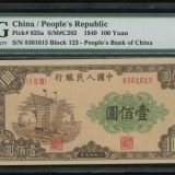 第一套壹佰圆大帆船纸币收藏价值不言而喻