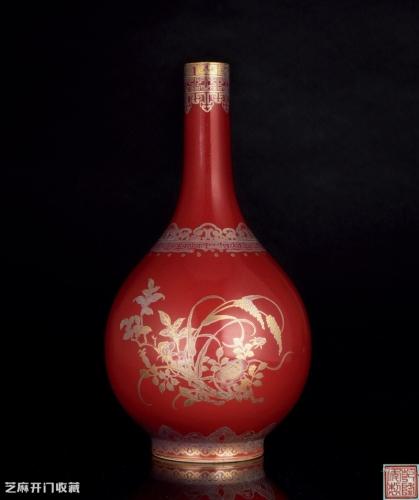 清代霁红釉瓷器底部特征