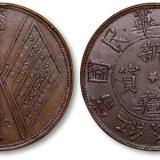 民国双旗币二十文,价值几何?