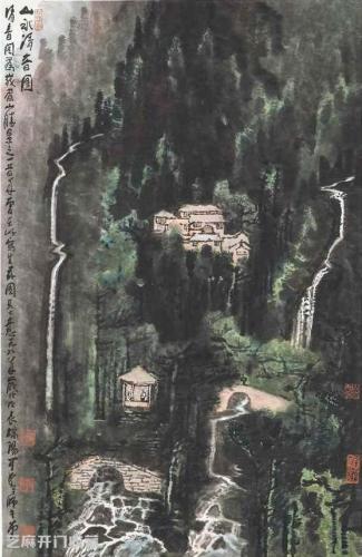 客厅墙面装饰画就选山水画